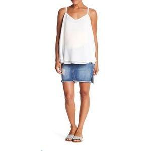 Seven7 Distressed Maternity Denim Skirt